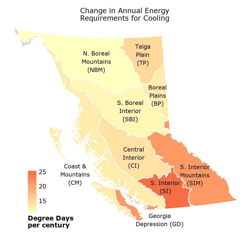 Heating & Cooling Degree Days - Environmental Reporting BC
