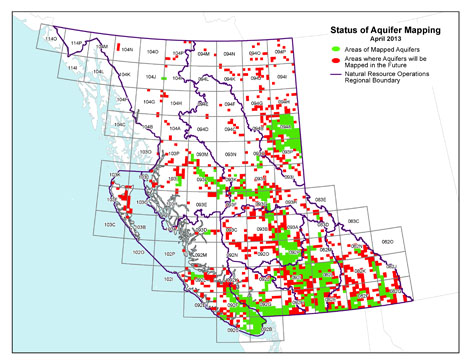 Ministry Of Environment Water Stewardship Division Aquifers - Aquifer map of us with key